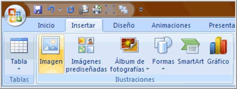 Comando Imagen del grupo Ilustraciones en la pesataña Insertar.