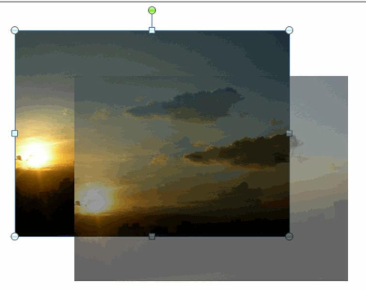 movimiento de una imagen.