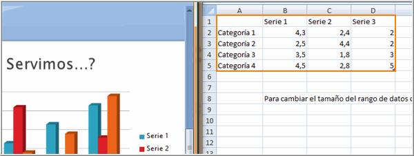 Escribir datos en una celda