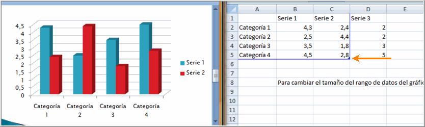 Cambiar tamaño del rango de datos