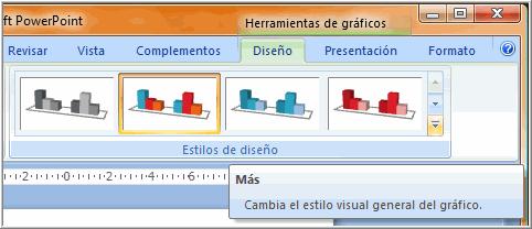 Diseño: Estilos de gráficos