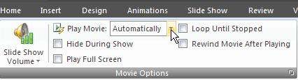 Opciones para reproducir película