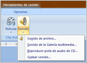 Opciones de sonido