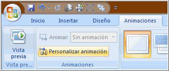 Personalizar Animación