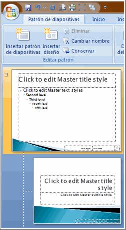 Seleccionar diapositiva patrón