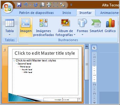 Diapositiva patrón