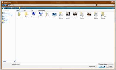 Seleccionar archivo de imagen