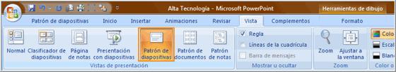 Selección comando Patrón de Diapositivas