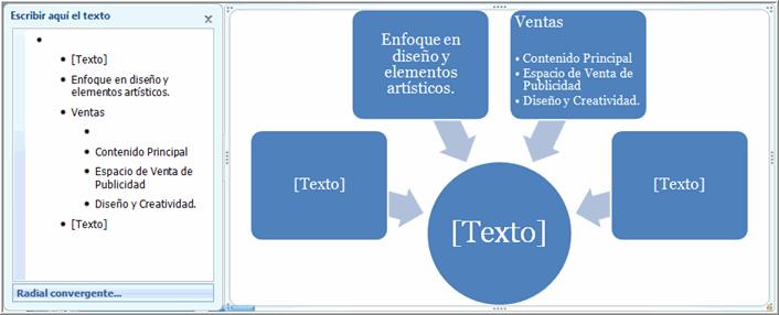 Espacio de campo para texto