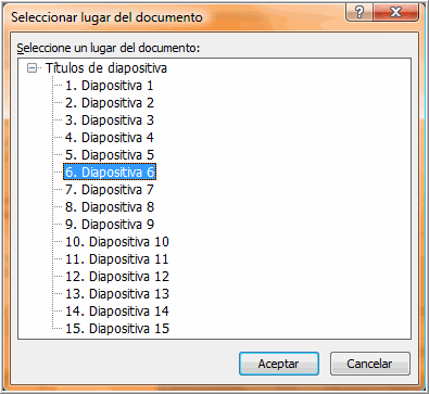 seleccionar lugar de documento