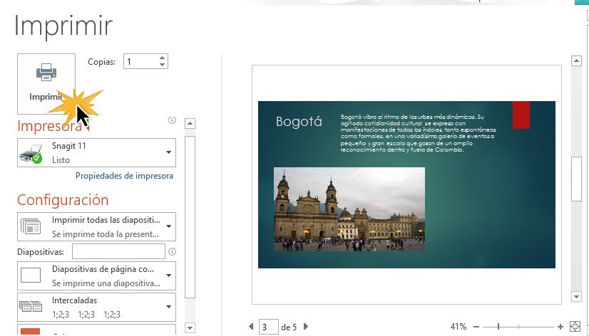 Puedes personalizar la forma en que imprimes tus documentos con el Panel de impresión.