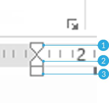 Mueve tu texto con los guiones de ajuste para ubicarlo en un lugar específico.