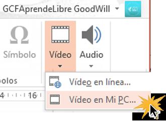 Añade videos que tengas alojados en tu computador.