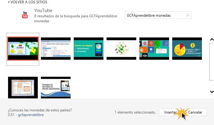 Te aparecerán los videos relacionados a la búsqueda que realizaste.
