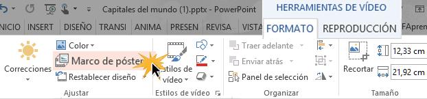 Elige un fotograma del video una imagen alojada en tu computador.