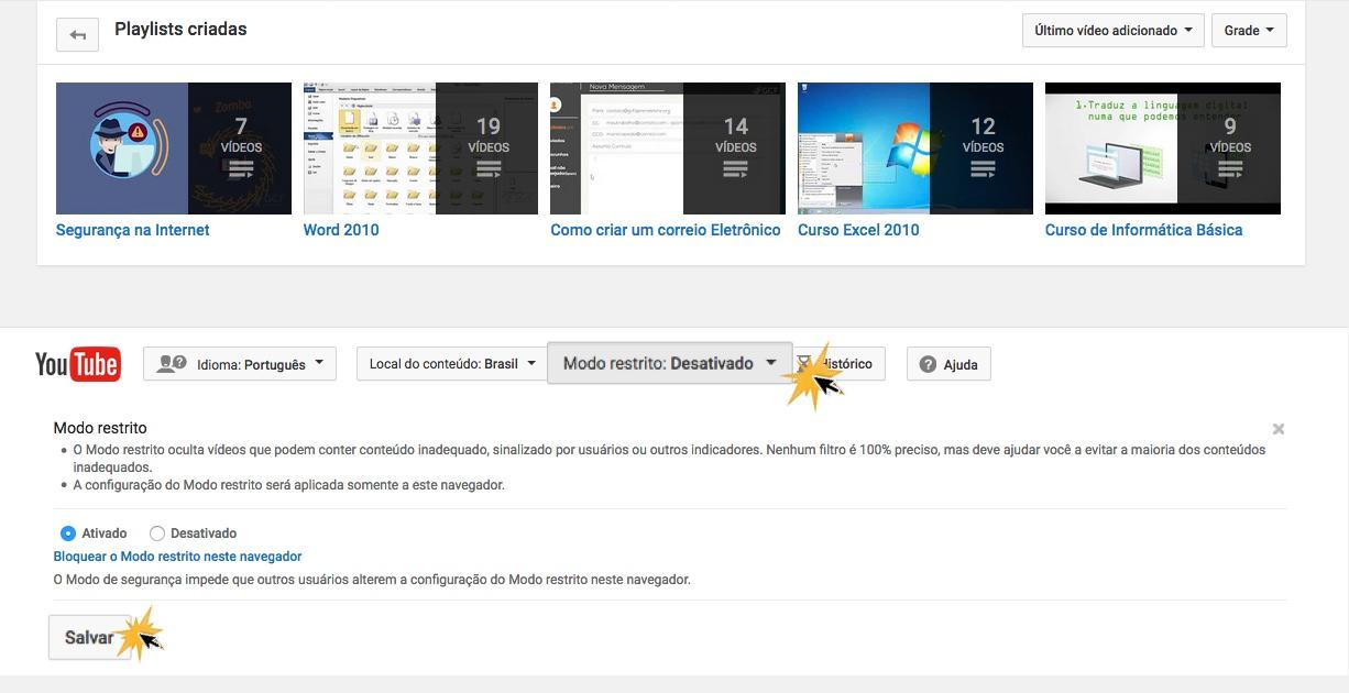 Activa el Modo restringido para evitar que el menor vea videos inapropiados.