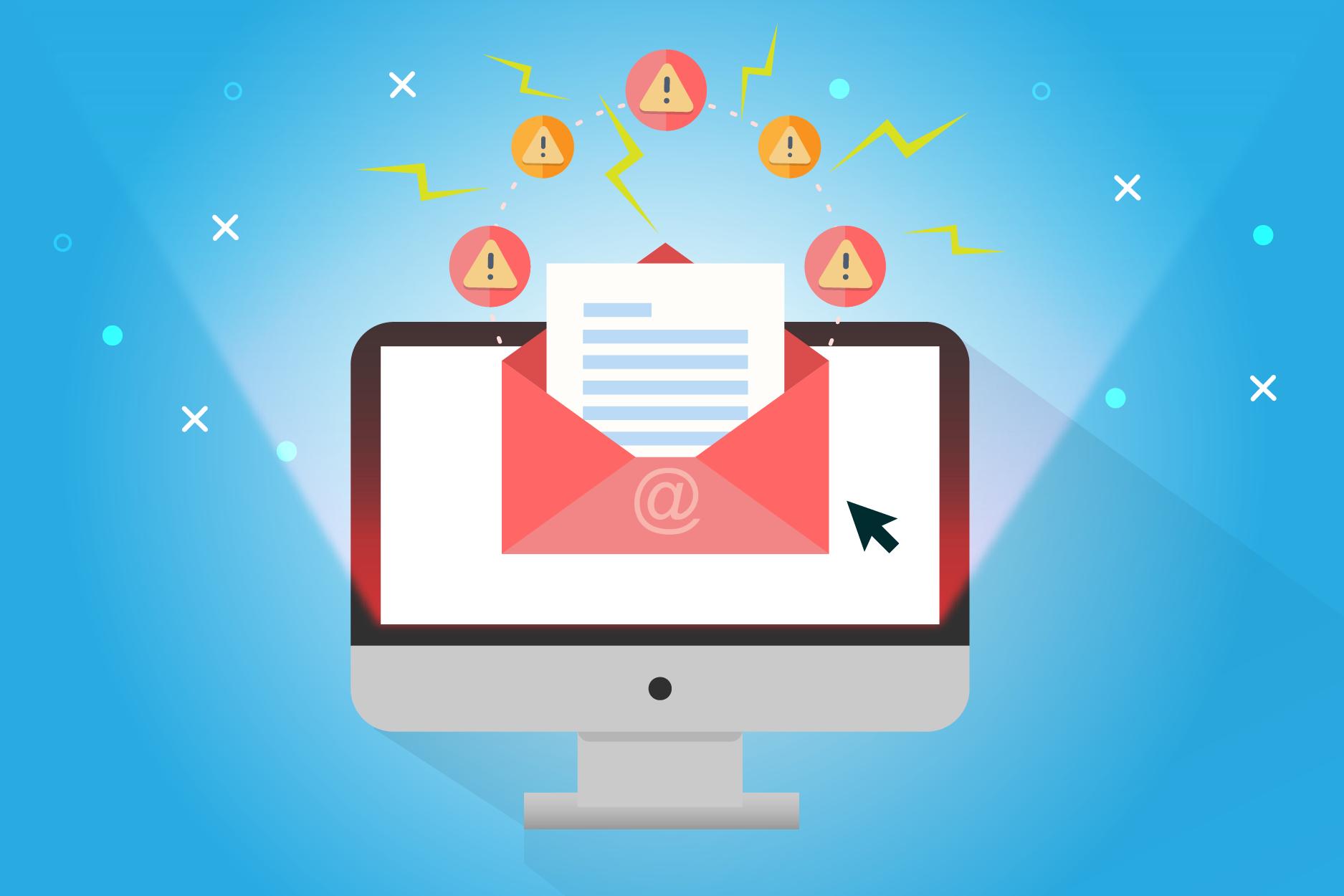 Por e-mail podem enviar spam e mensagens suspeitas para roubarem informações.