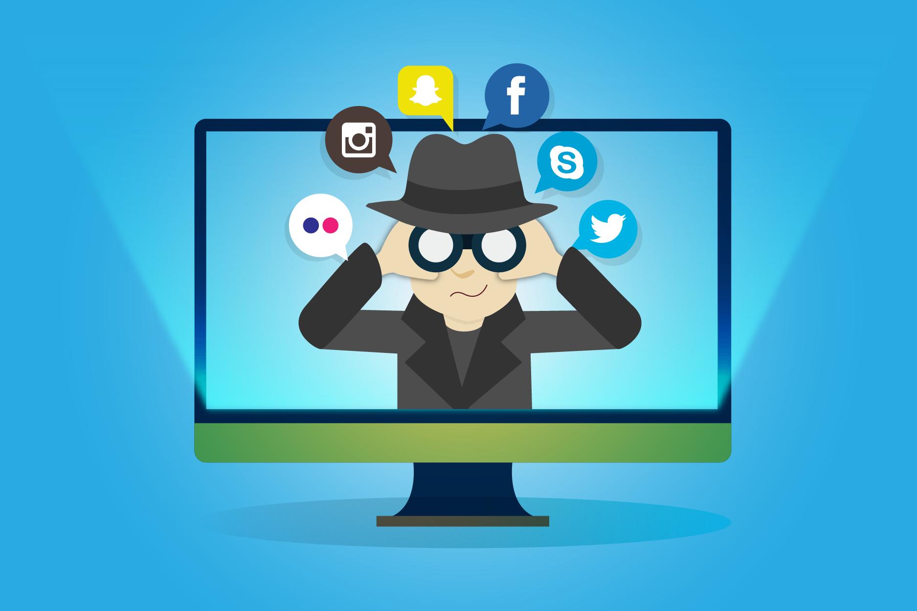 El cyberstalking se da en redes sociales como Facebook, Instagram o Twitter.