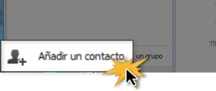 Botón Añadir contacto