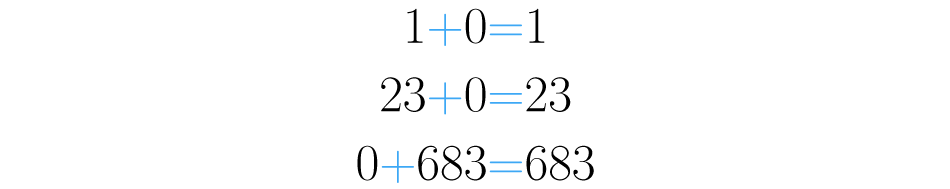 Zero somado a qualquer número, dá como esse número.