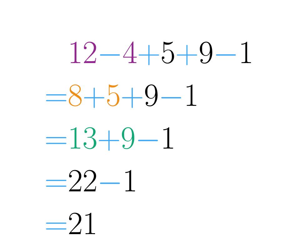 Es posible operar los números en orden.