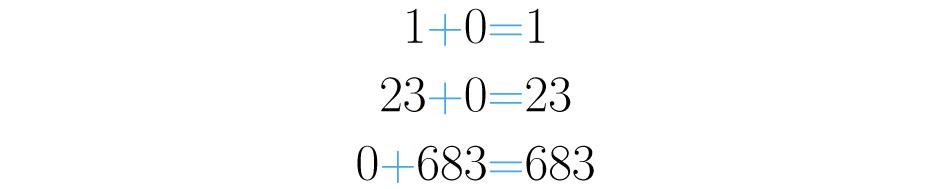 Cero sumado con cualquier número, da como resultado ese número.