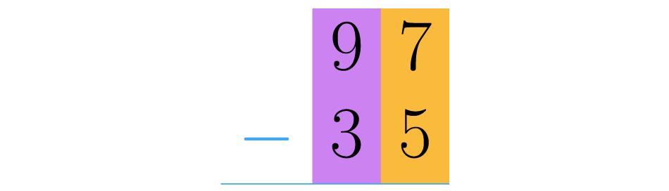 Colocamos os números um sobre o outro fazendo com que os valores posicionais coincidam.