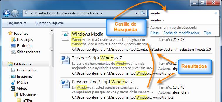 Cómo usar buscar en el Explorador de Windows