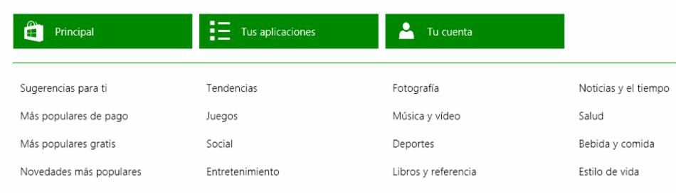 Imagen ejemplo de Barra desde la que puedes manejar tus aplicaciones en Windows.