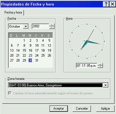Cambiar fecha y hora.