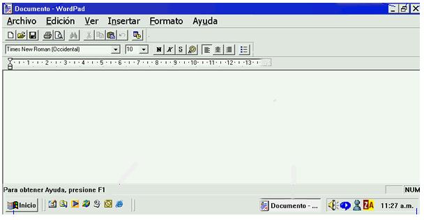 Ventana de Windows 98.