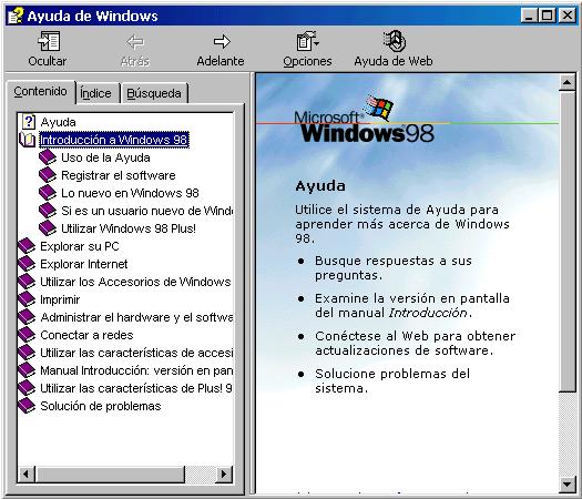 Ayuda de windows