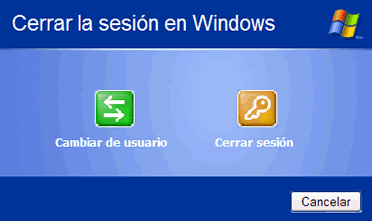 Cerrar sesión en Windows