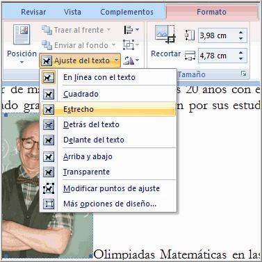 Imagen ejemplo de cómo ajustar el texto alrededor de una imagen.