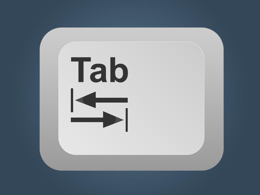 Imagen ejemplo de la tecla Tab.