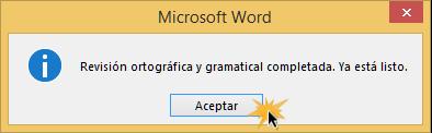 Imagen de cuadro de diálogo de cuando Word ya no encuentre más errores.