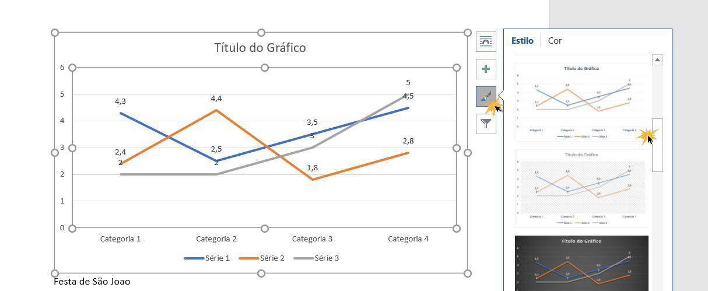 Aplicar um estilo ao gráfico.